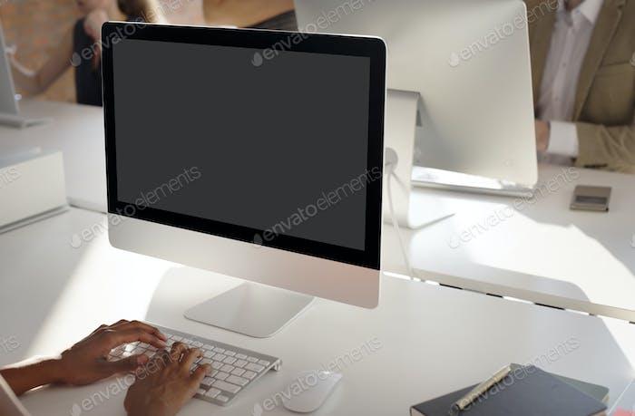 Mockup Copyspace - Concepto de Ordenador portátil