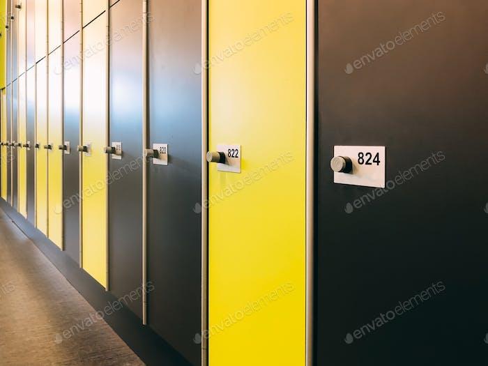 Gym changing room lockers