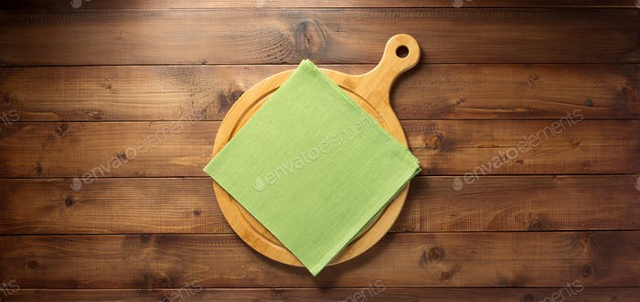 pizza or bread cutting board and napkin cloth