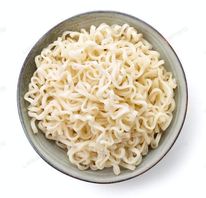 Bowl of boiled egg noodles