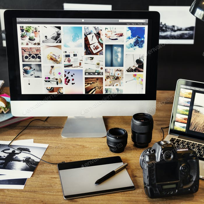 Camera Photography Design Studio Editing Concept