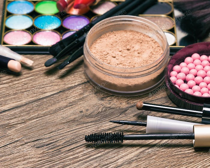 Beauty products - makeup essentials