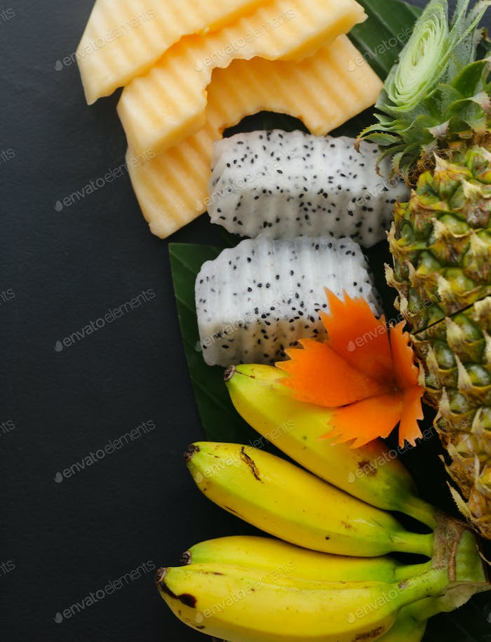 Tropical Fruits, Pineapple, Banana