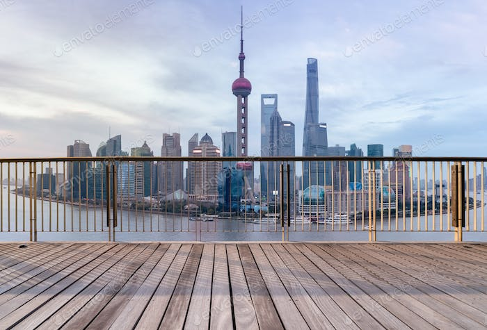 beautiful shanghai cityscape