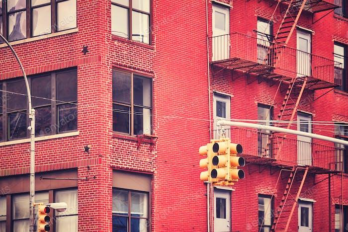 New York City traffic lights.