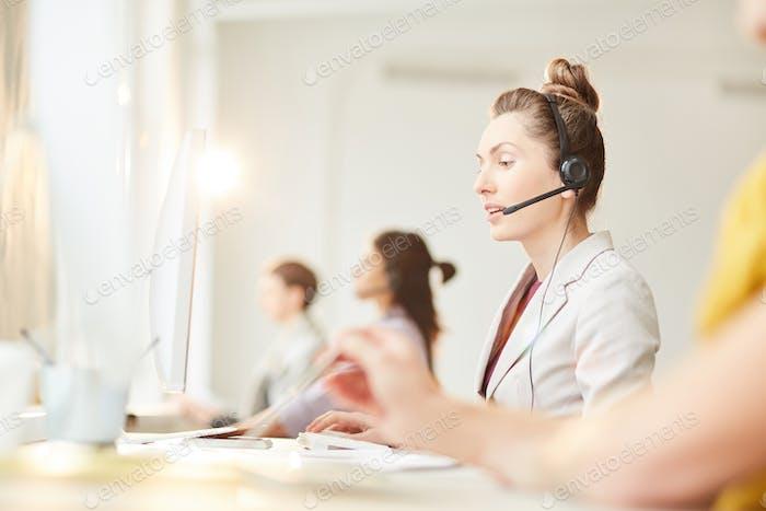 Kunden-Support-Linie
