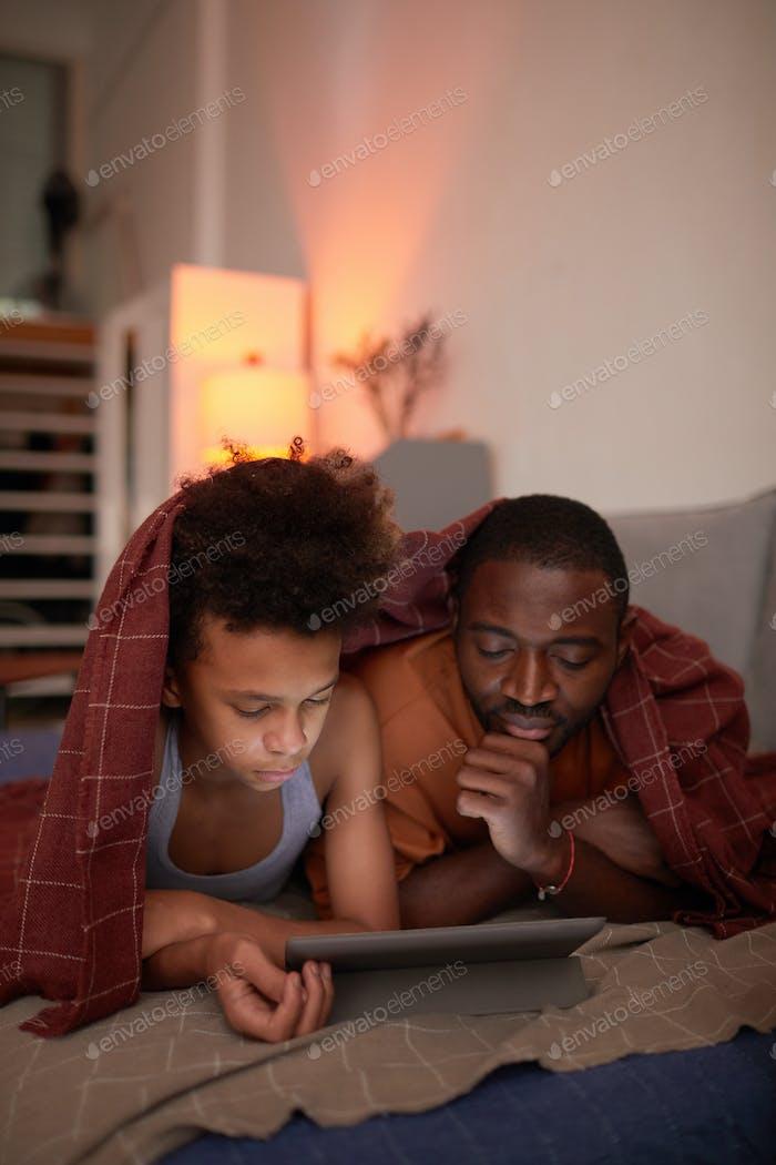 Watching Film On Digital Tablet