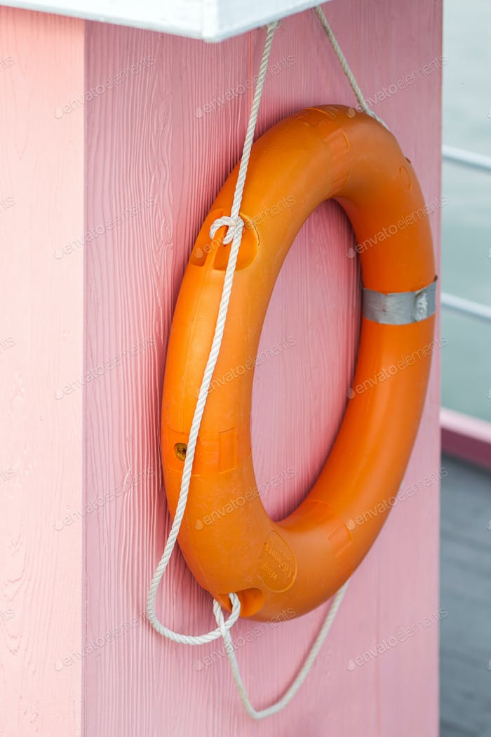 Orange resque  lifebuoy