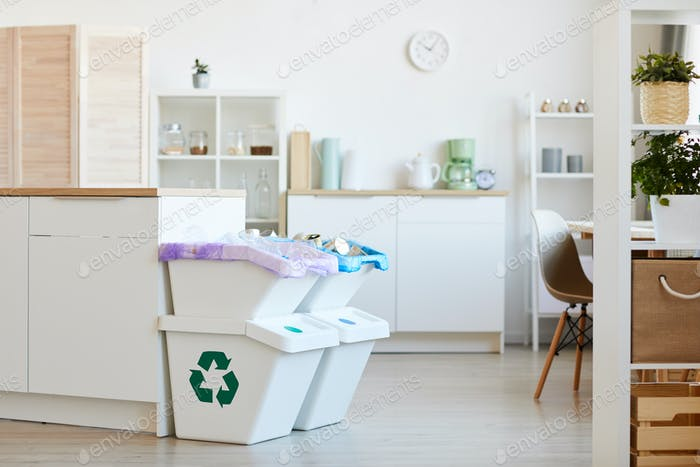 Trash bins for the house
