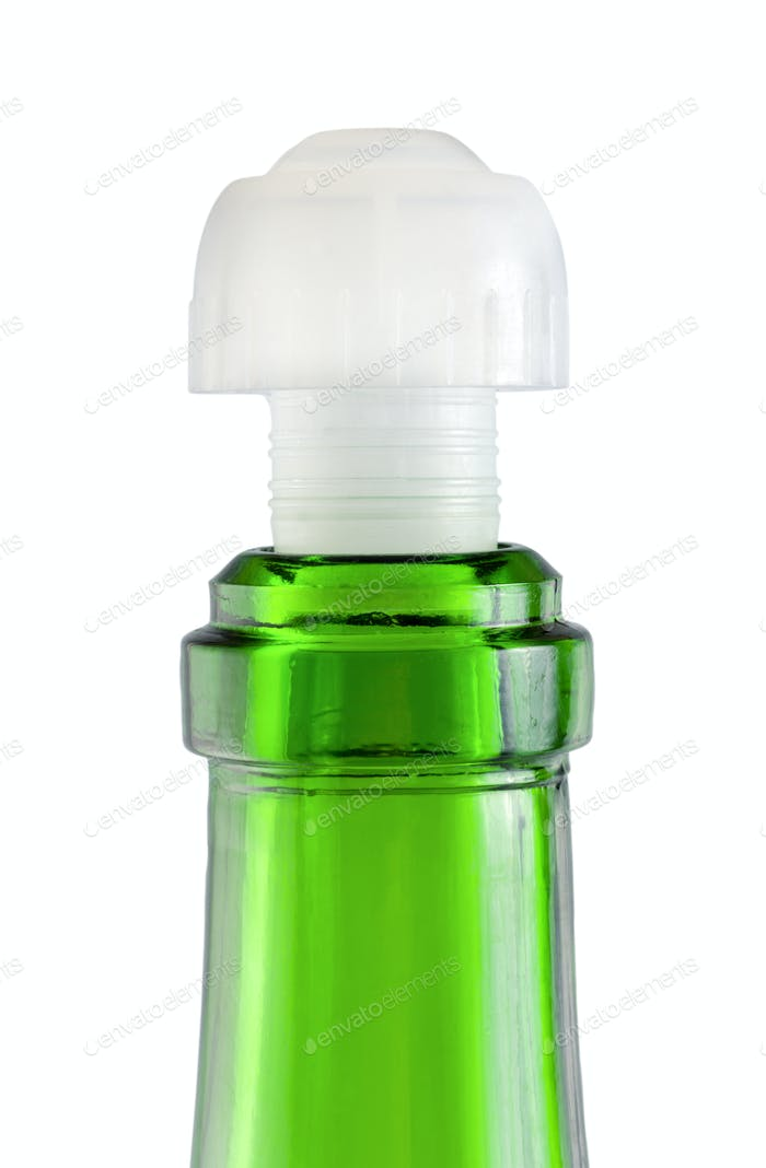 Empty wine bottle isolated