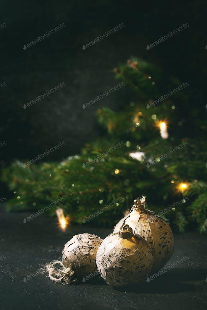 Basteln Weihnachtskugeln