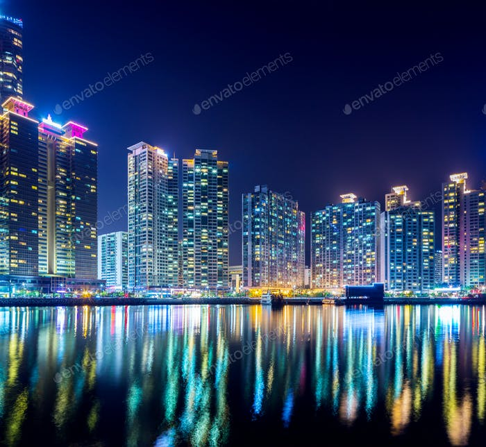 Haeundae in Busan city