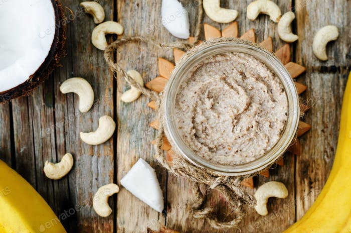 toasted cashew banana coconut butter