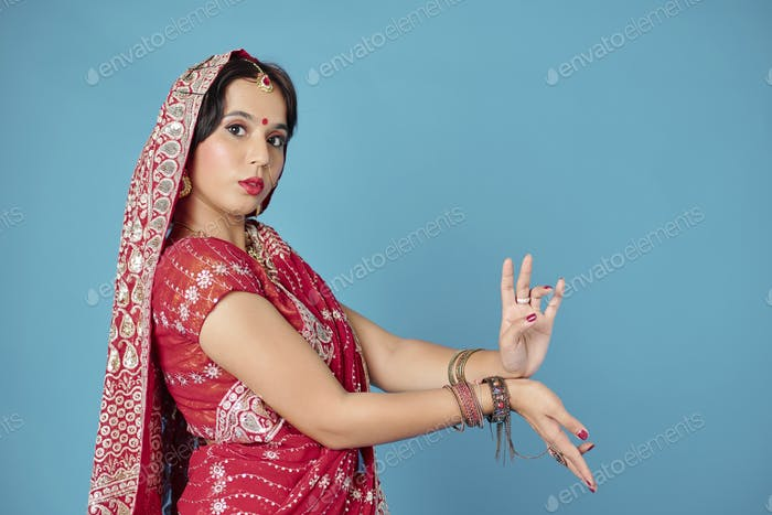 Dancing Indian woman