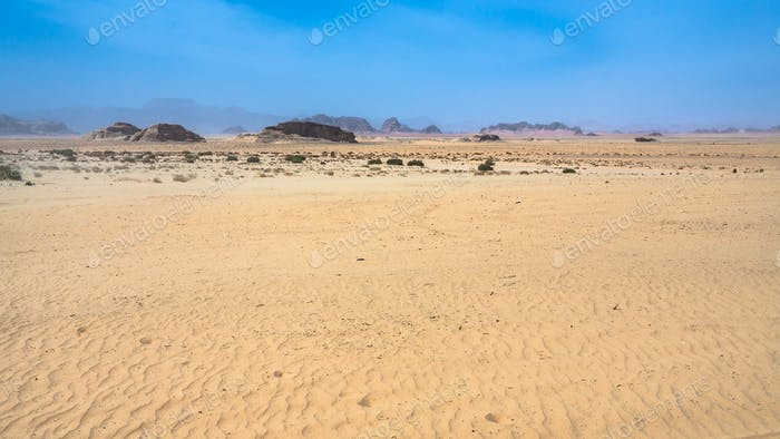 sand surface of Wadi Rum desert