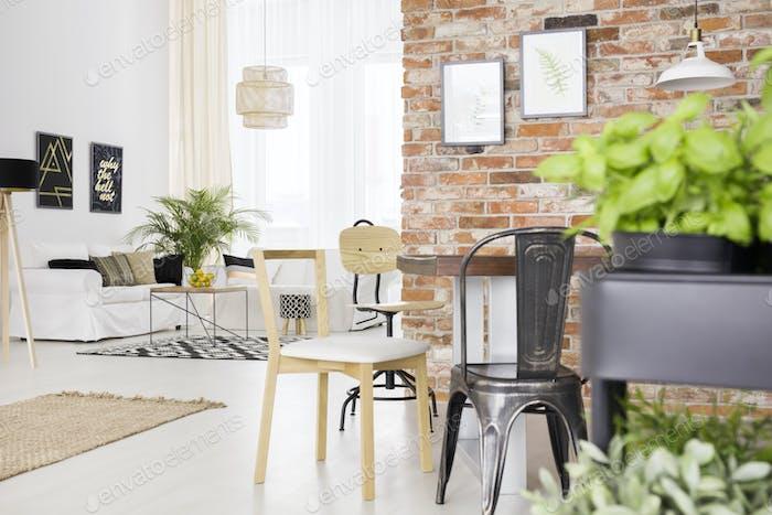 Дизайнерские стулья в комнате