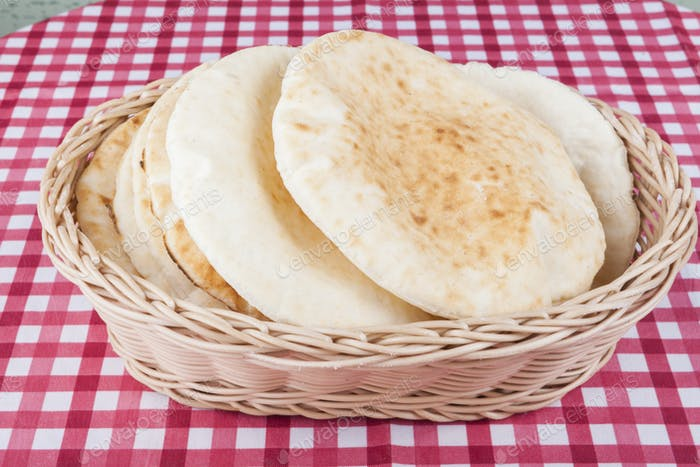Pita in Basket