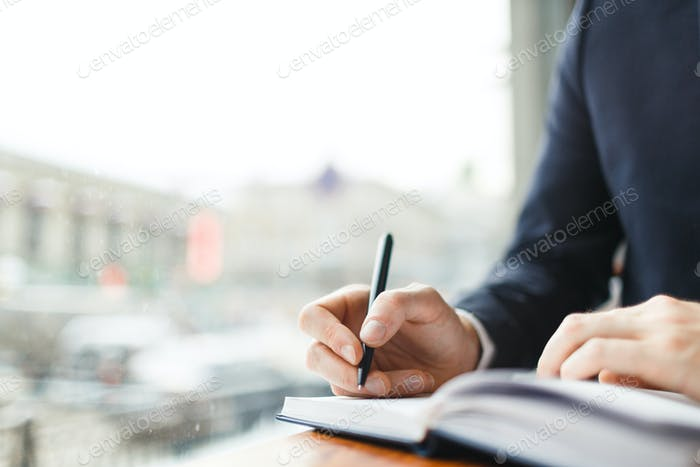 Writing down work schedule