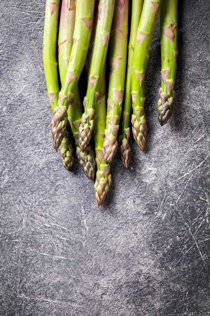 Fresh green asparagus. Food for vegetarians.