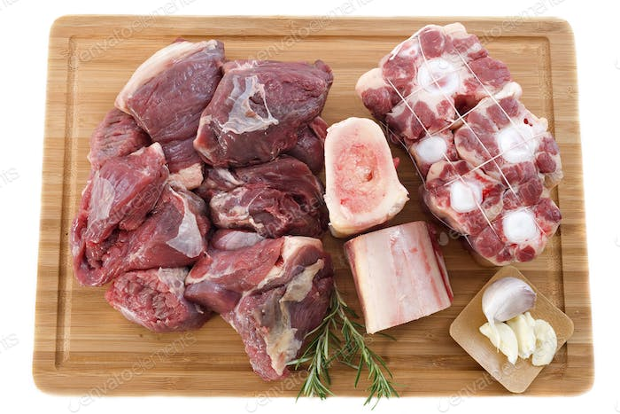 variety of beef meat