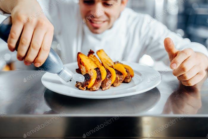 Hacer una comida hermosa