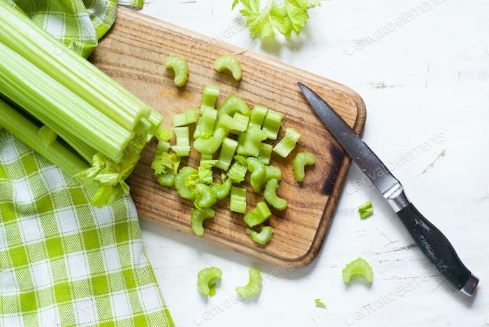 Chopped Celery stalks
