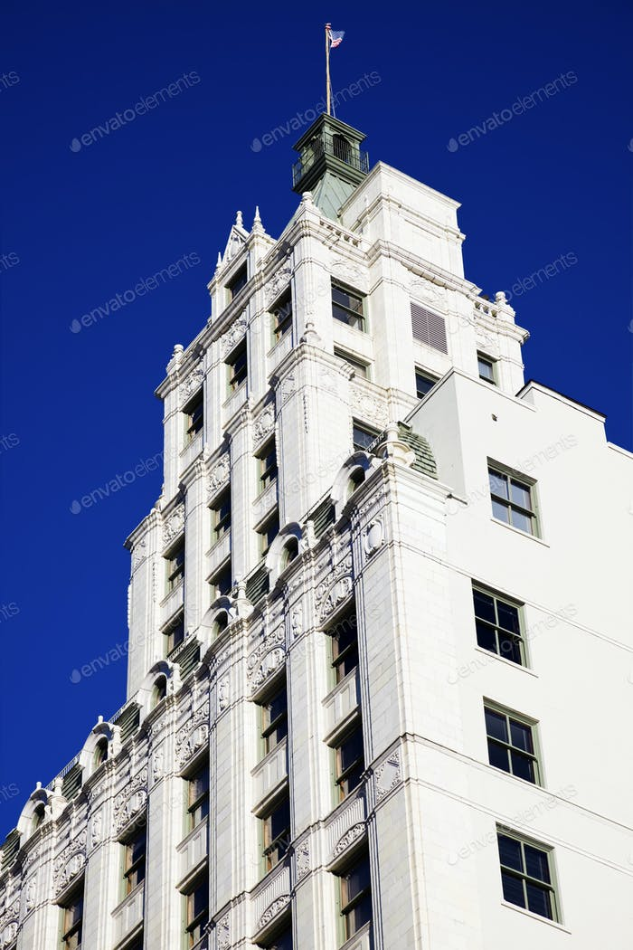 White Building against Blue Sky