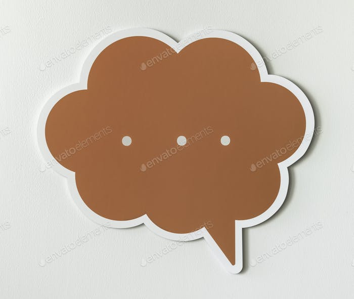 Conversation speech bubble cut out icon