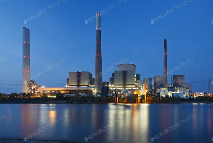 Coal Power Station At River