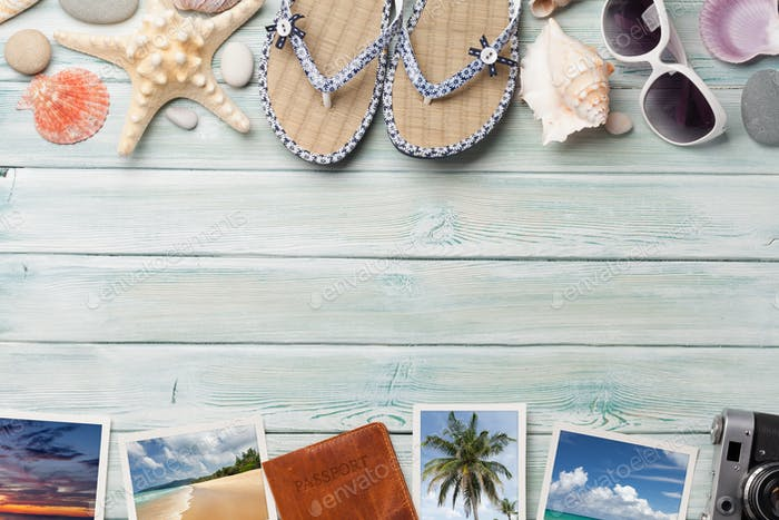 Travel vacation table concept