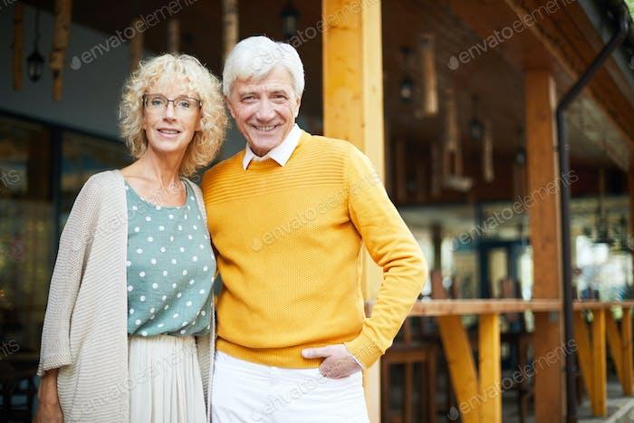 Fashionable senior couple