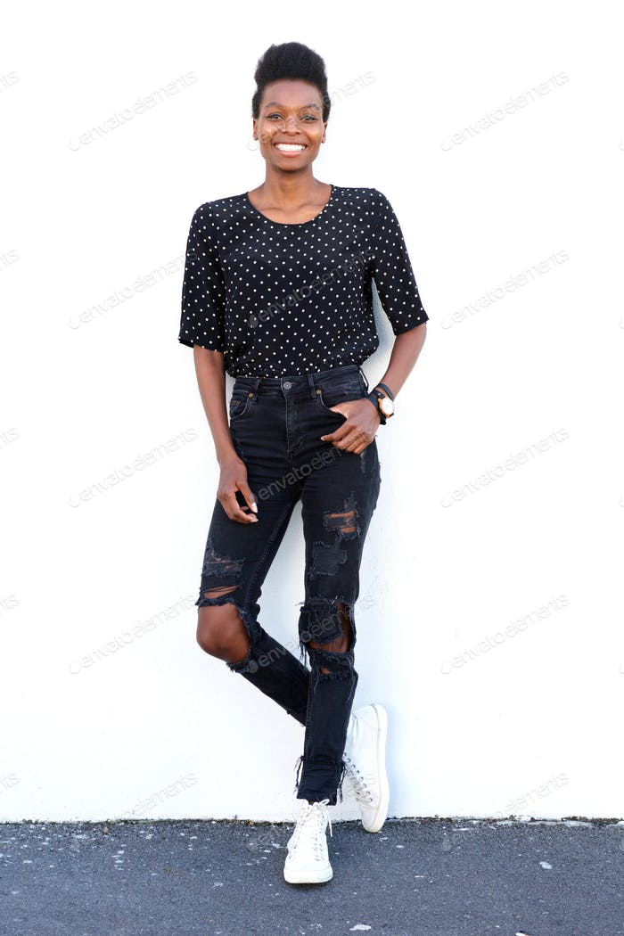 Attractive young african female model