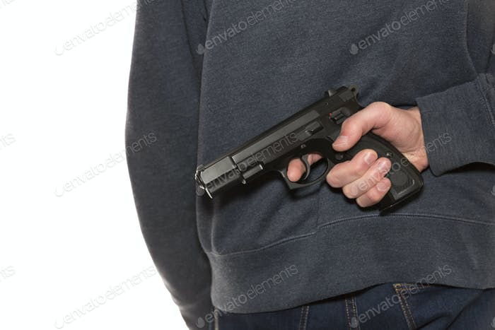 Man with handgun
