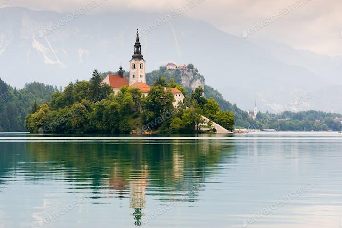 Lake Bled Idyllic Scene