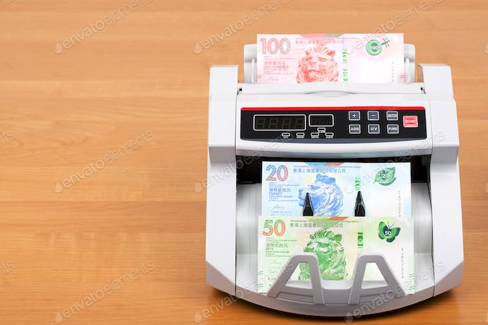 Hong Kong Dollar in the counting machine