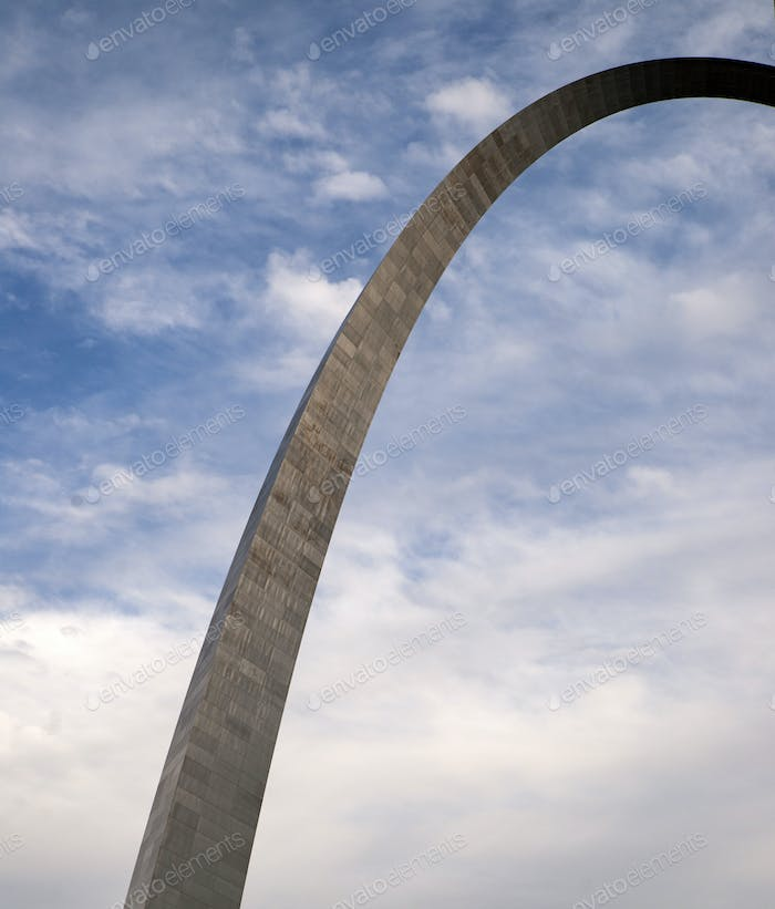 A Portion of the famous Gateway to the West Arch in St. Louis