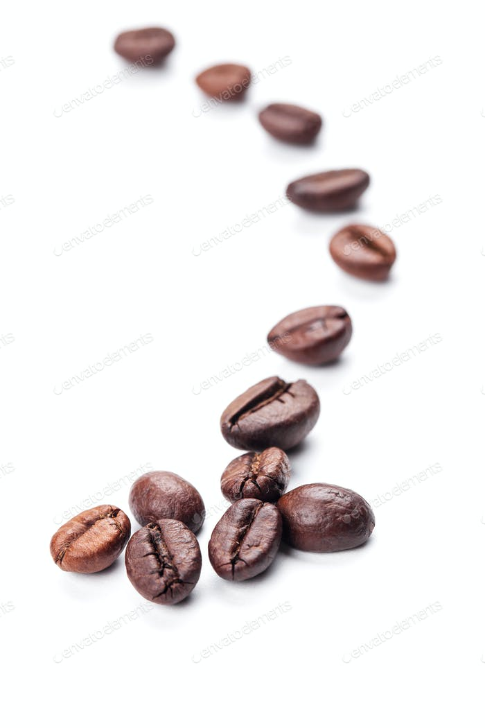 Thumbnail for coffee beans isolated on white background