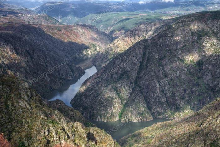 Granitic cliffs on the Ribeira Sacra