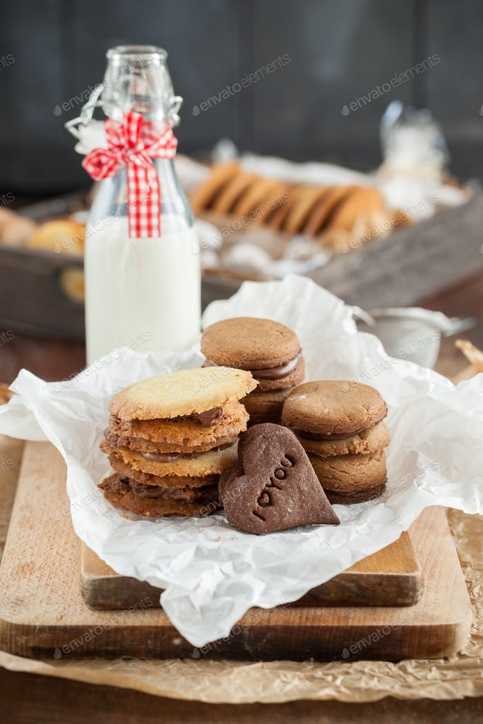 Butter cookies specially prepared for Christmas