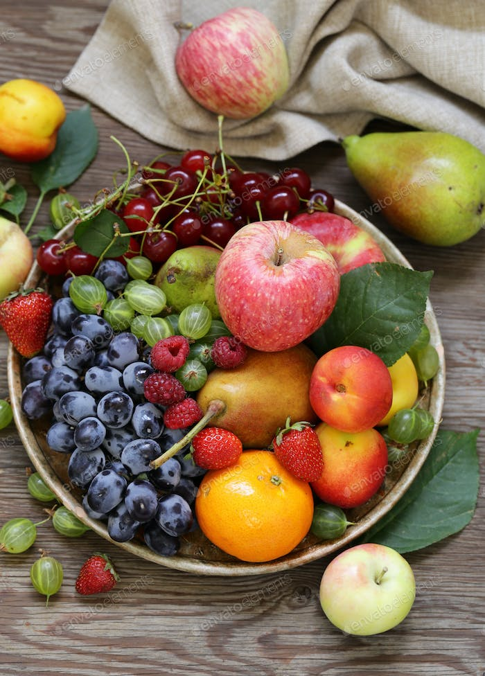 Different Berries and Fruits