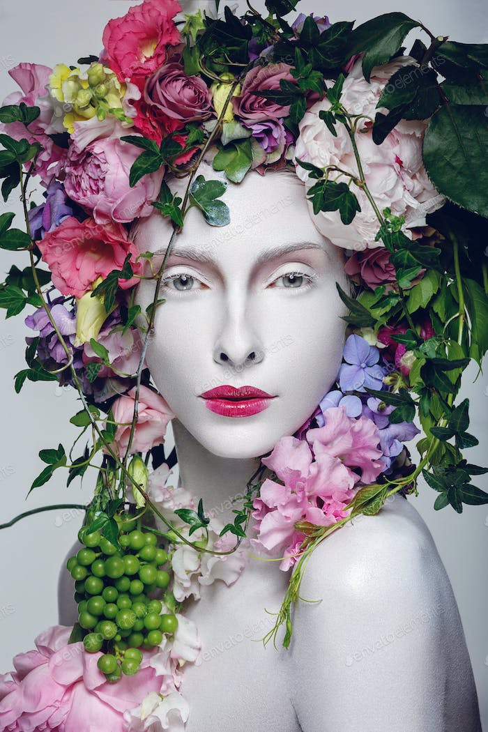 Beautiful flower queen
