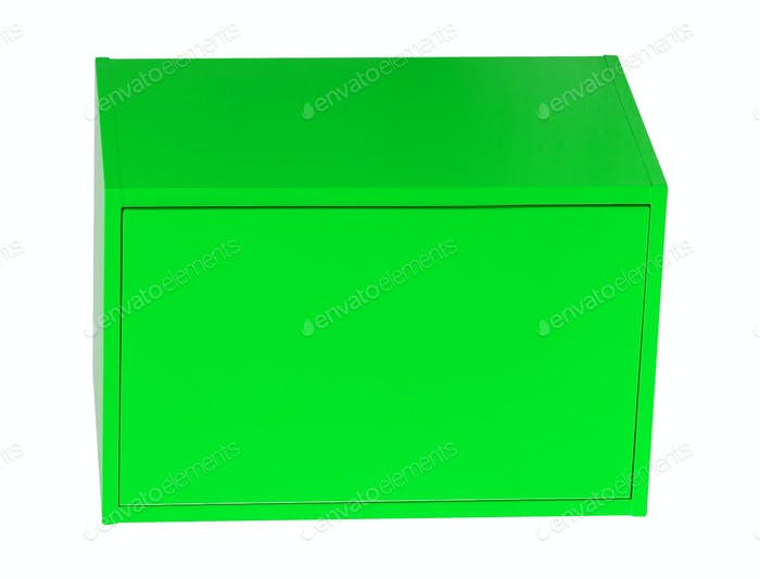 Steel box isolated on white