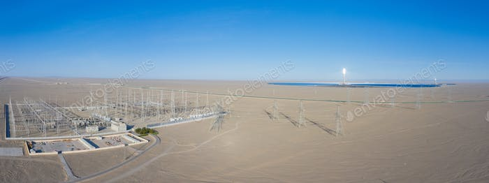 solar thermal power station and transformer substation