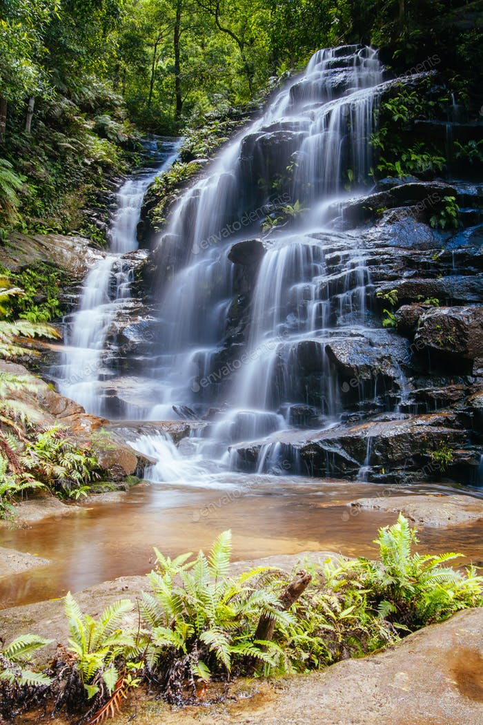 Wentworth Falls in Blue Mountains Australia