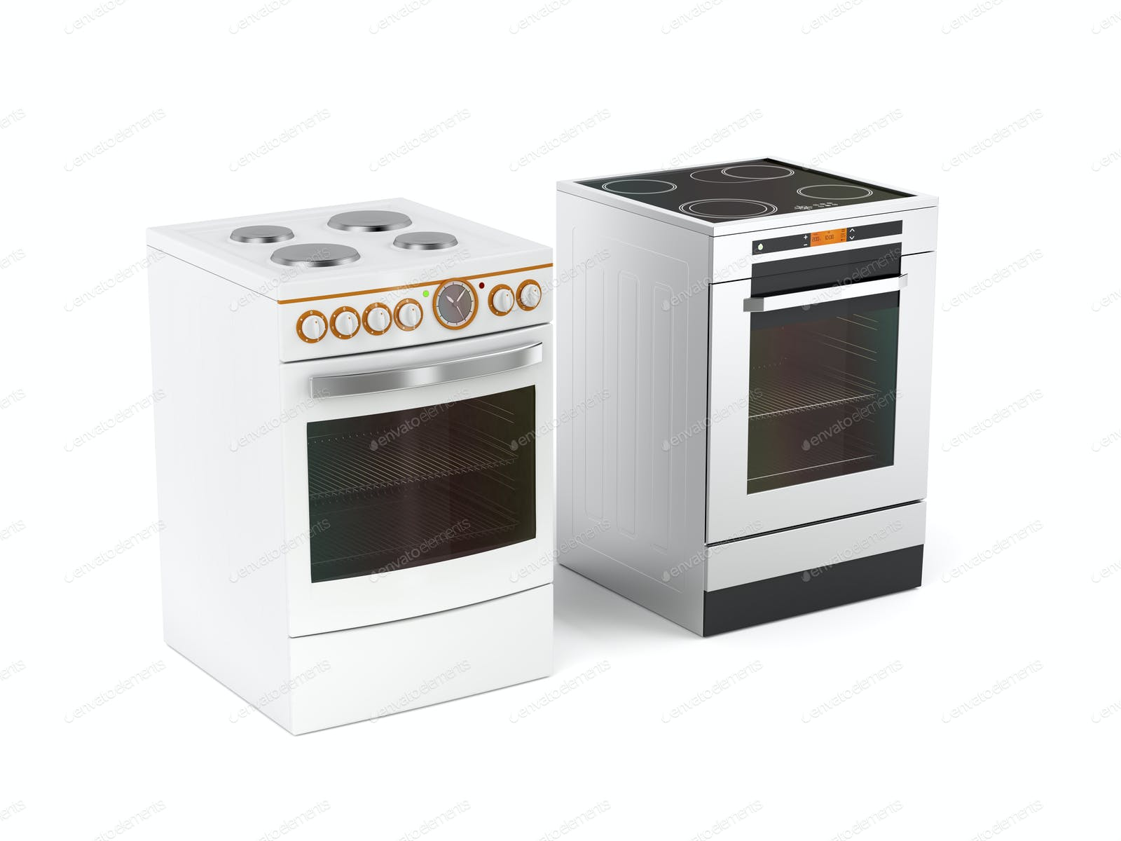 Two electric stoves photo by magraphics on Envato Elements