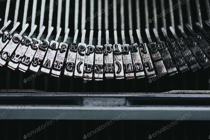 Alte Schreibmaschine Serie