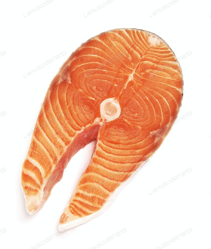 Lachssteak roter Fisch