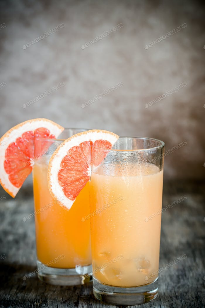 Grapefruit and Tequila Paloma Cocktail