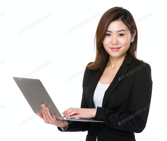 Business woman use of tablet