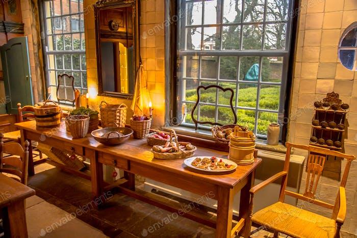 Historic old kitchen interior
